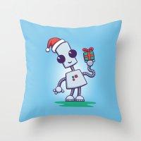 Ned's Christmas Throw Pillow
