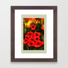 Poppies Card by Ave Hurley Framed Art Print