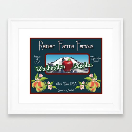 Washington Apples Framed Art Print
