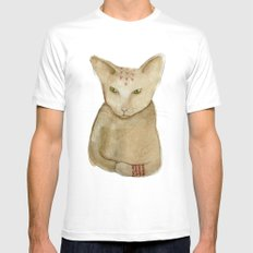 Totem Kitteh 1 White SMALL Mens Fitted Tee