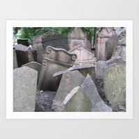 Graveyard in Prague Art Print