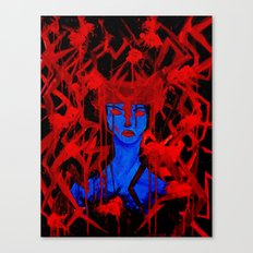 Blue Warrior Canvas Print