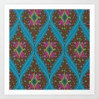 Teardrop Pattern Art Print