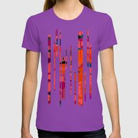 Flamingos  Womens Fitted Tee Ultraviolet SMALL