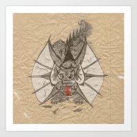 Ink Dragon Art Print