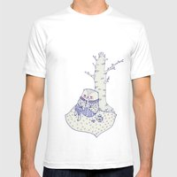 the tree. Mens Fitted Tee White SMALL