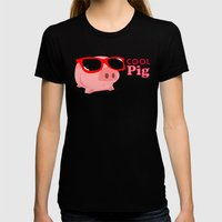 Cool Pig Womens Fitted Tee Black SMALL