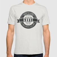 GROOL Badge Design Based… Mens Fitted Tee Silver SMALL