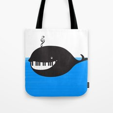 whale  (water proof piano!) Tote Bag