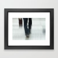 Just Walking Framed Art Print