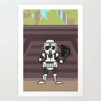EP6 : Scout Trooper Art Print