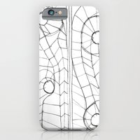 iPhone & iPod Case featuring Original Sketch Series - Erosion Patterning by Simbiotek