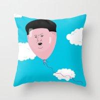 Kim Jong-Ball-Un Throw Pillow
