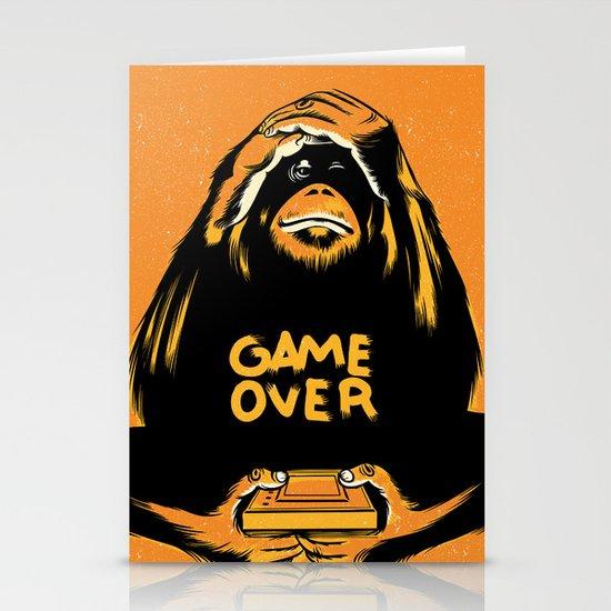 Orange Quick Foot Stationery Card
