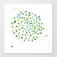 Leaf Ball Canvas Print