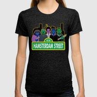 Hamsterdam Street Womens Fitted Tee Tri-Black SMALL