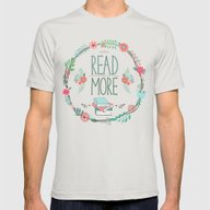 Read More Floral Wreath Mens Fitted Tee Silver SMALL