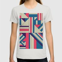 Geo1. Womens Fitted Tee Silver SMALL