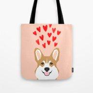 Valentines - Love Corgi  Tote Bag