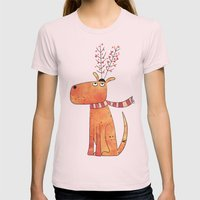 The Antler Hat Womens Fitted Tee Light Pink SMALL