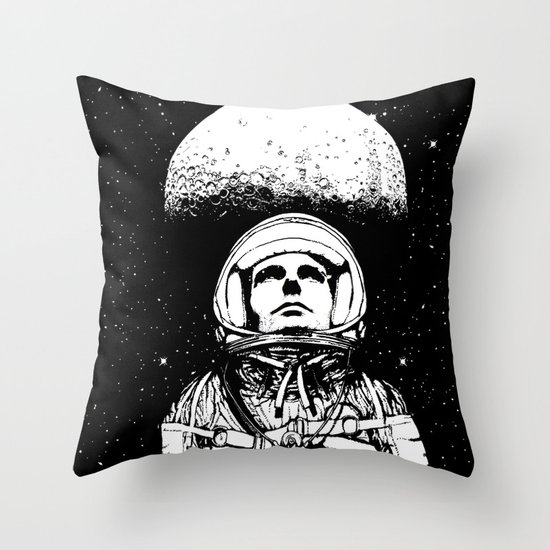 Looking for Space Throw Pillow