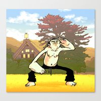 Morning Exercise Canvas Print