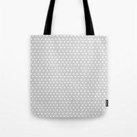 Dainty Gray Hearts Tote Bag
