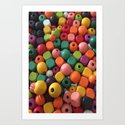 Wood Beads Art Print