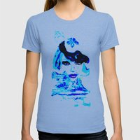 Water Women_02 Womens Fitted Tee Athletic Blue SMALL