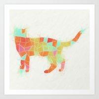 Oh, Hi Cat Art Print