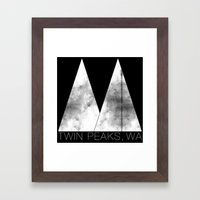 Twin Peaks, WA (White Lo… Framed Art Print