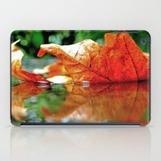 Autumn leaf reflected iPad Case