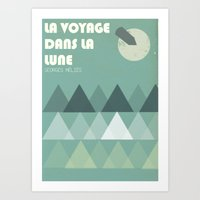 La Voyage Dans La Lune Art Print