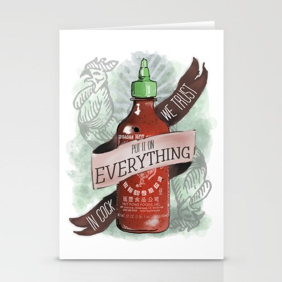 An Ode To Sriracha Stationery Card