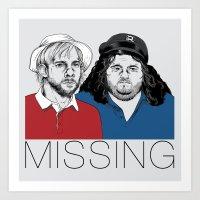 Missing Art Print