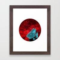 Space Rabbit Framed Art Print