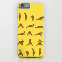 iPhone & iPod Case featuring Yoga Bear - Classic by Marco Angeles
