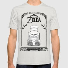 Zelda Legend - Lon Lon M… Mens Fitted Tee Silver SMALL
