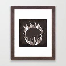 Burning Ring of Fire Framed Art Print