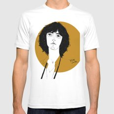 Patti Smith White Mens Fitted Tee SMALL