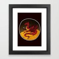 Smaug The Golden Framed Art Print