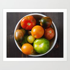 summer produce Art Print
