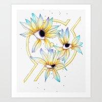 Ruptured Sun Art Print