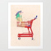 Shopping Is Fun Art Print