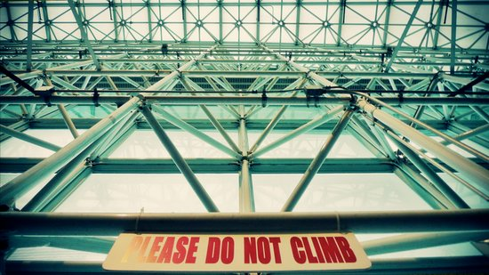 Please do not climb Art Print