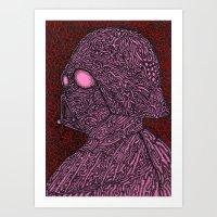 Pink Vader Art Print