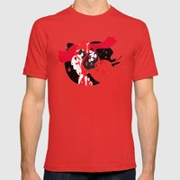 The girl Mens Fitted Tee Red SMALL