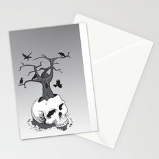 Skull and Tree Stationery Cards