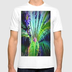Tropical Plants and Flowers SMALL Mens Fitted Tee White