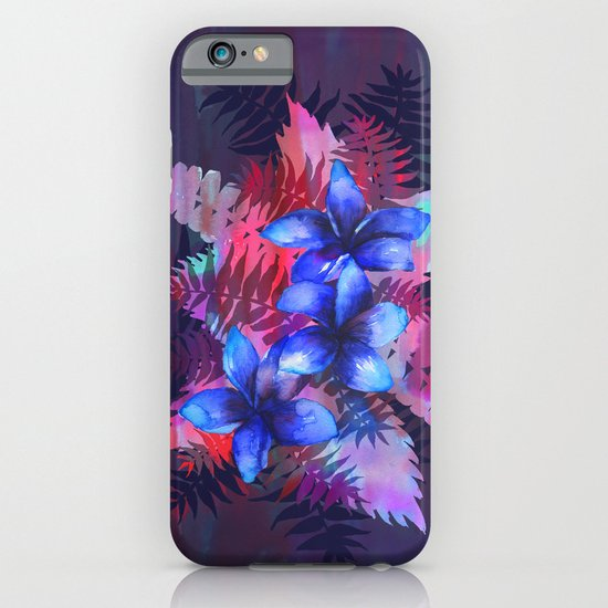 TROPICAL FLOWER {blue plumeria}  iPhone & iPod Case